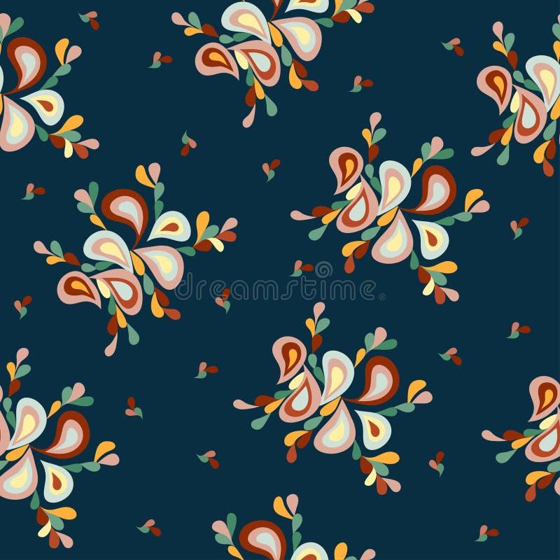 Modelo retro de los pétalos abstractos coloridos del fondo libre illustration