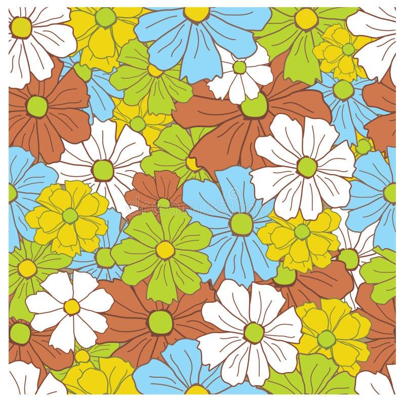 Modelo retro floral inconsútil libre illustration