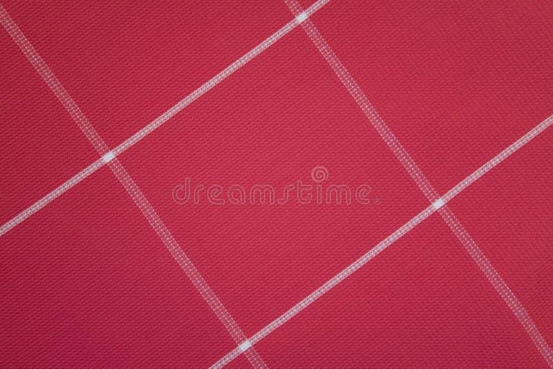 Modelo rojo de la materia textil