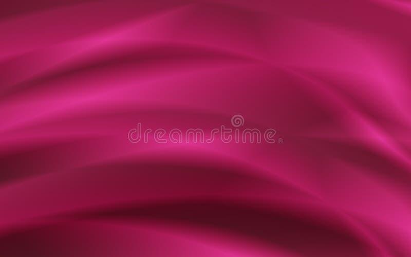 Modelo rojo de la moda del extracto del fondo de la cortina stock de ilustración