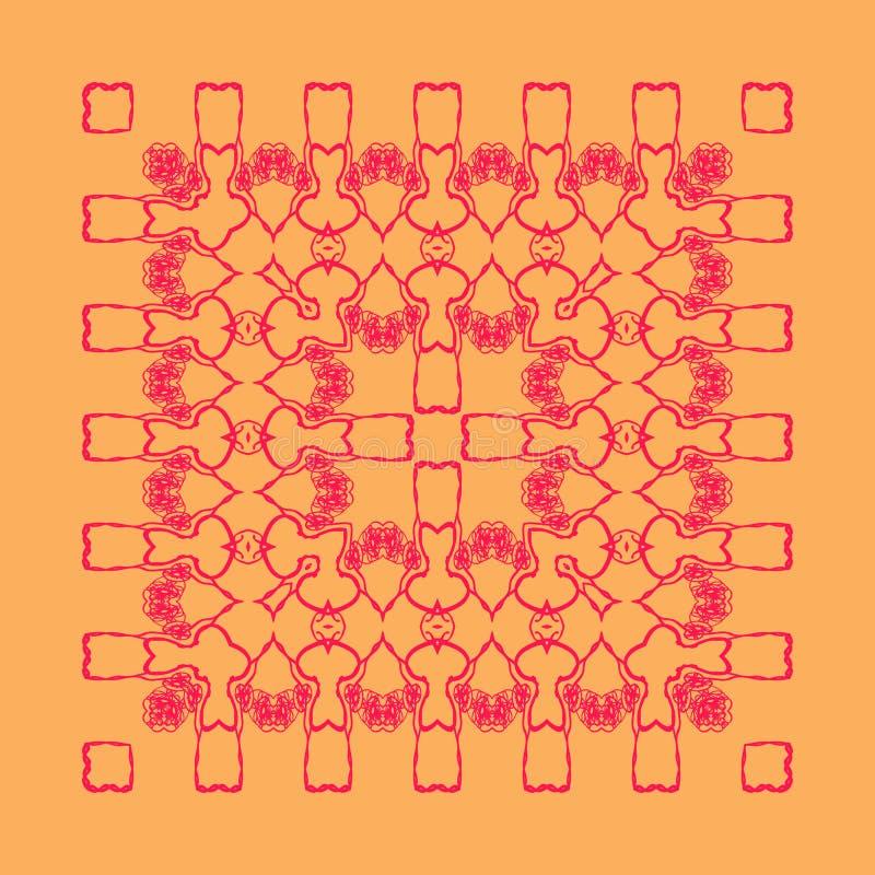 Modelo rojo del cordón stock de ilustración