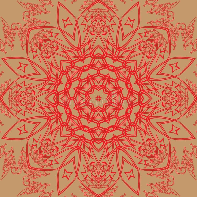 Modelo rojo del cordón ilustración del vector