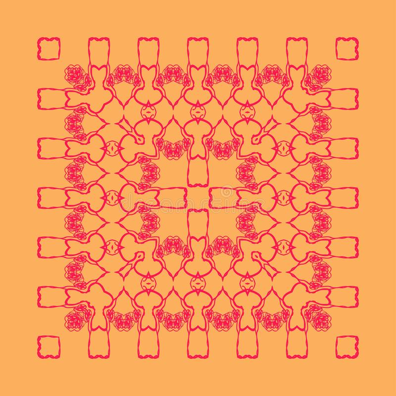 Modelo rojo del cordón libre illustration
