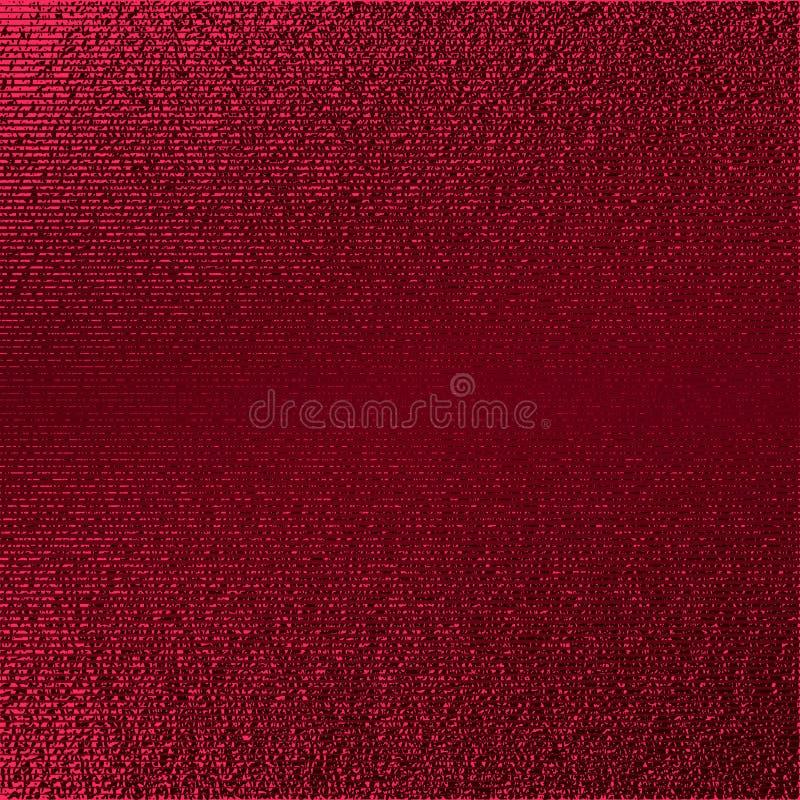 Modelo rojo Fondo carmesí abstracto Ejemplo marrón del vector Rayas del brillo del escarlata Textura rojo oscuro de la hoja Patte ilustración del vector