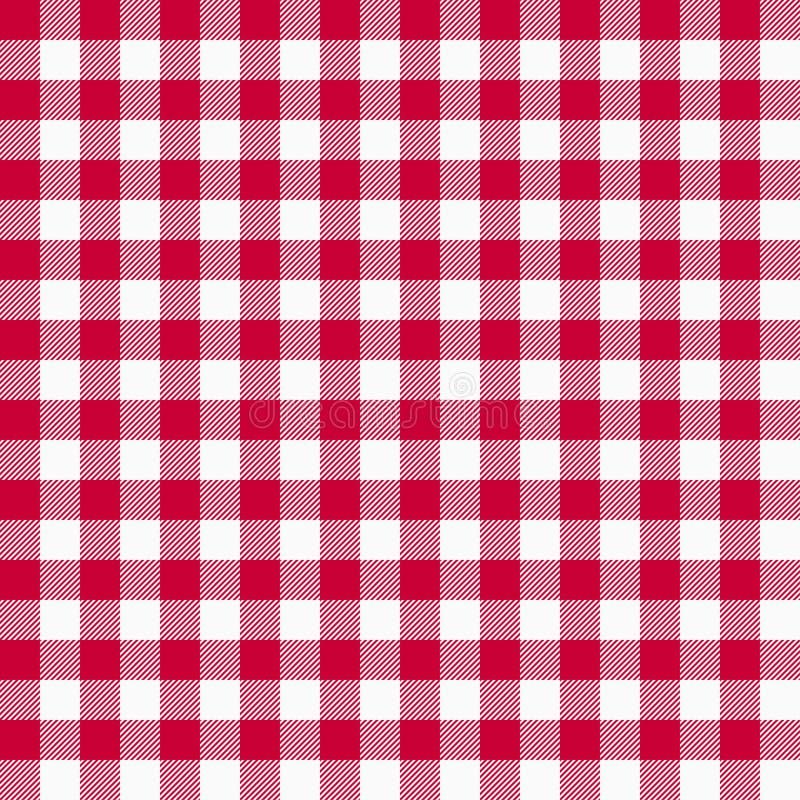 Modelo rojo inconsútil de la guinga Los manteles texturizan, fondo de la tela escocesa Gráficos para la camisa, ropa de la tipogr libre illustration