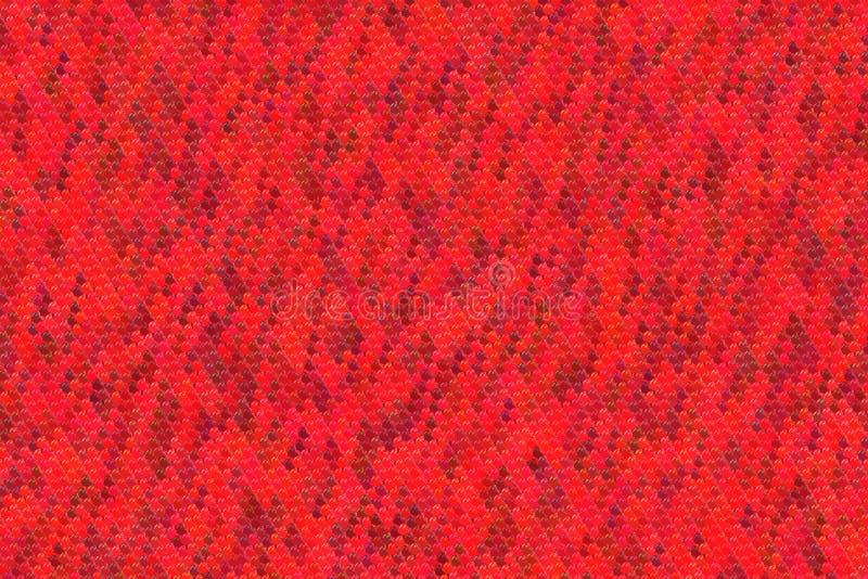 Modelo rojo inconsútil de los corazones para el fondo de la tarjeta del día de San Valentín fotografía de archivo libre de regalías