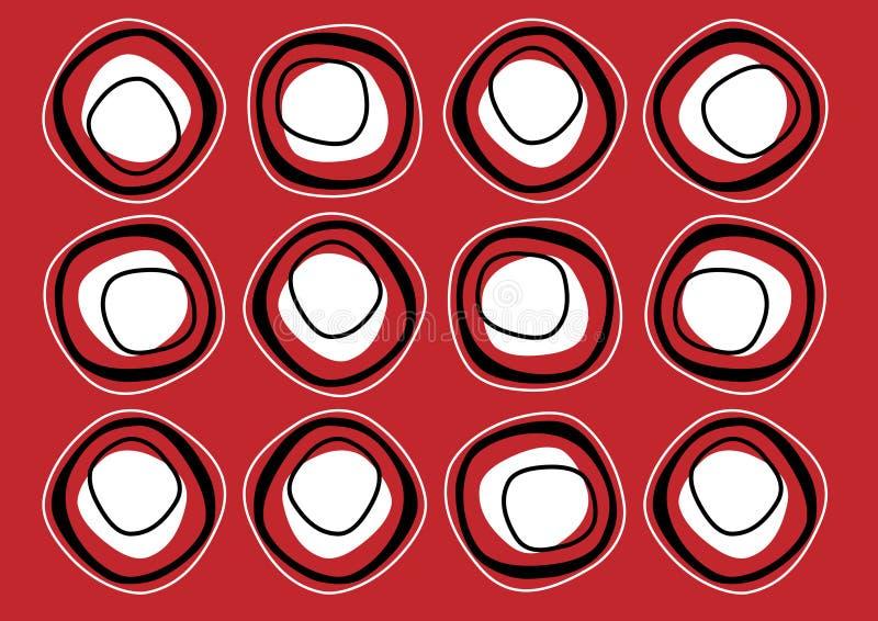 Modelo rojo oscuro de la repetición imagenes de archivo