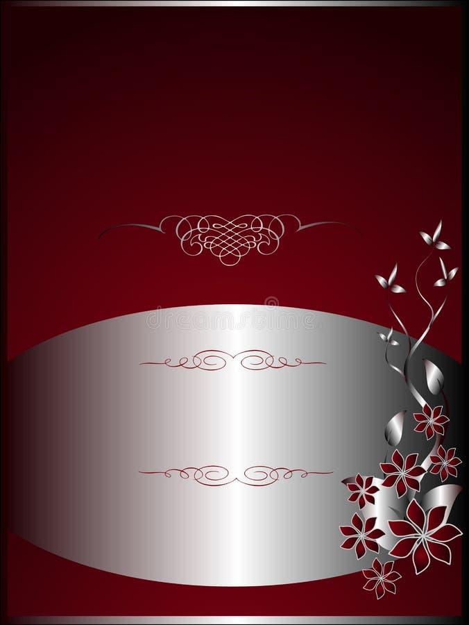 Modelo rojo y de plata del menú ilustración del vector