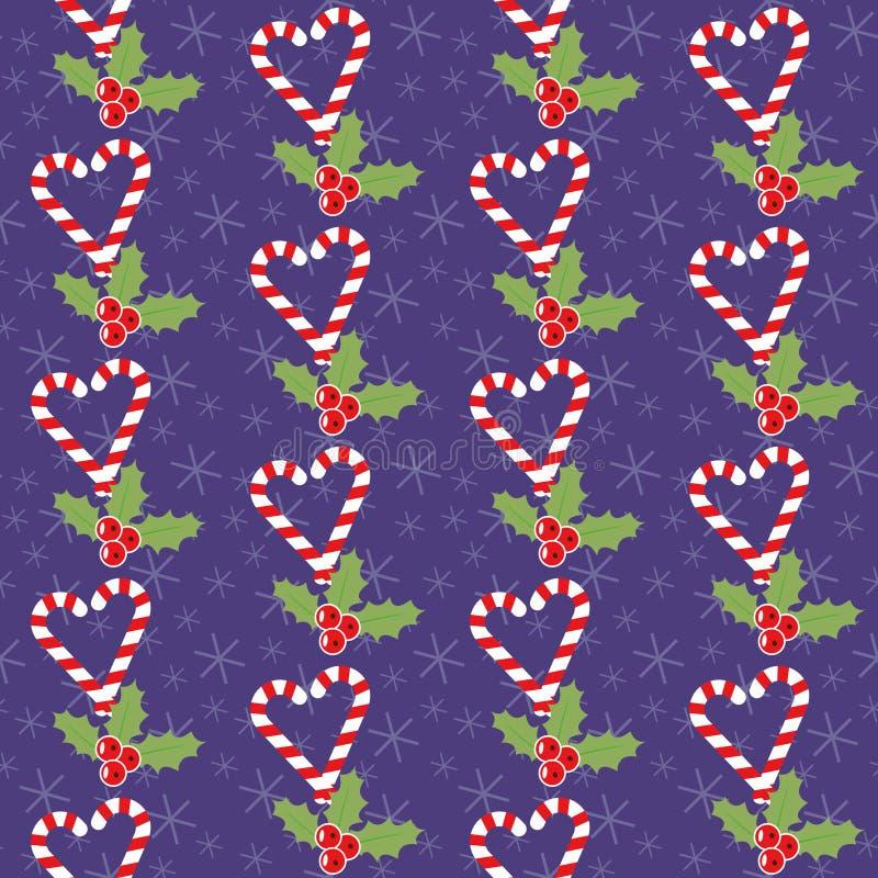 Modelo romántico de la Navidad stock de ilustración