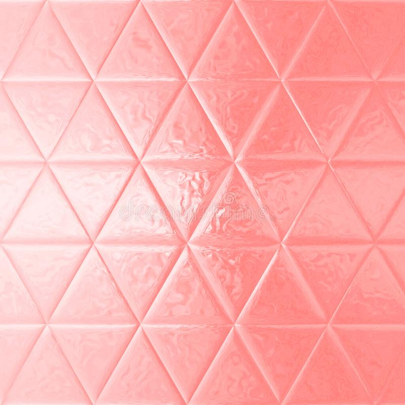 Modelo rosa claro acodado extracto del triángulo stock de ilustración