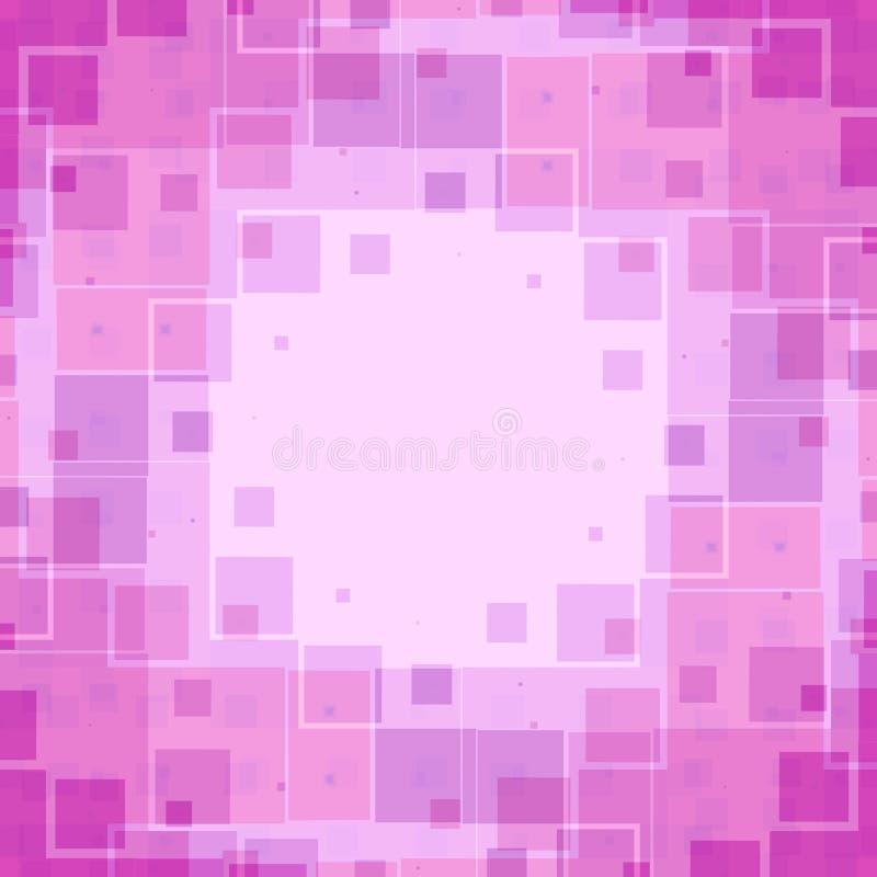 Modelo rosado de la textura de los rectángulos stock de ilustración