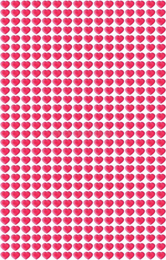 Modelo rosado de los corazones stock de ilustración