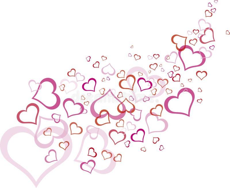Modelo rosado del corazón del esquema stock de ilustración