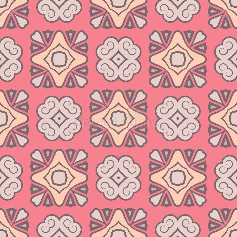 Modelo rosado inconsútil del color del vector abstracto para el fondo ilustración del vector