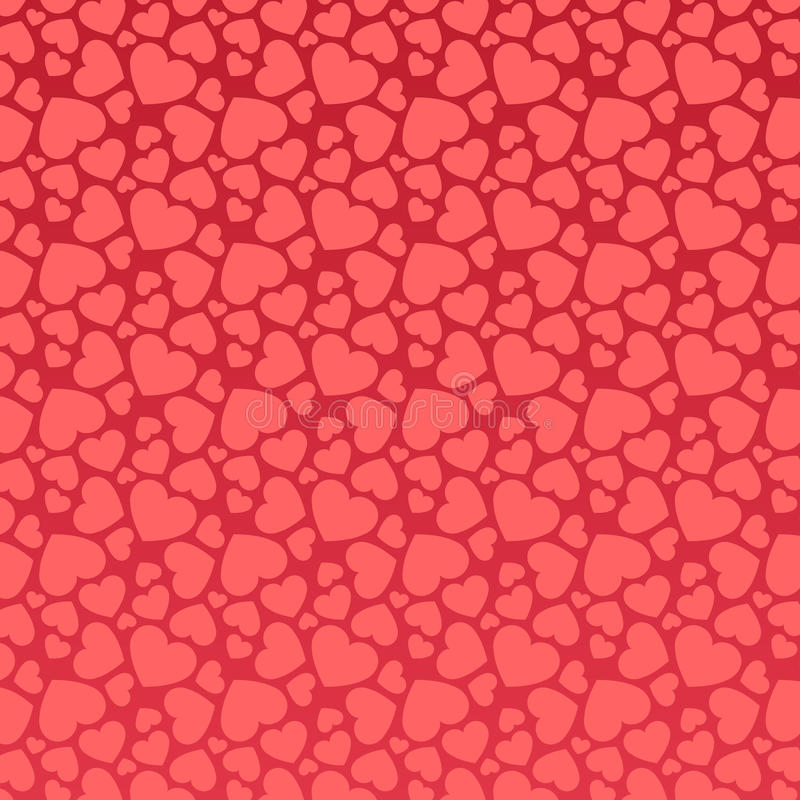Modelo rosado inconsútil del corazón libre illustration