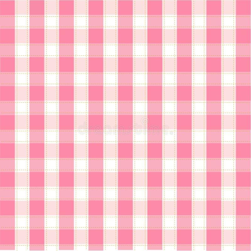 Modelo rosado inconsútil, fondo stock de ilustración
