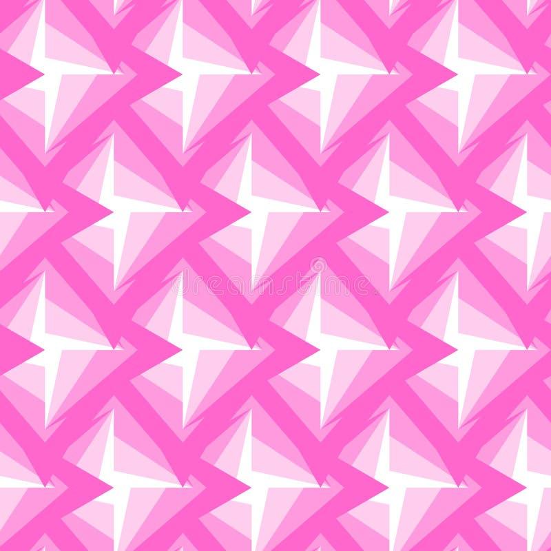 Modelo rosado poligonal inconsútil Fondo abstracto geométrico libre illustration