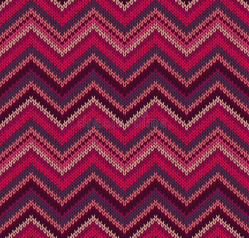 Modelo rosado rojo de la textura del Knit libre illustration