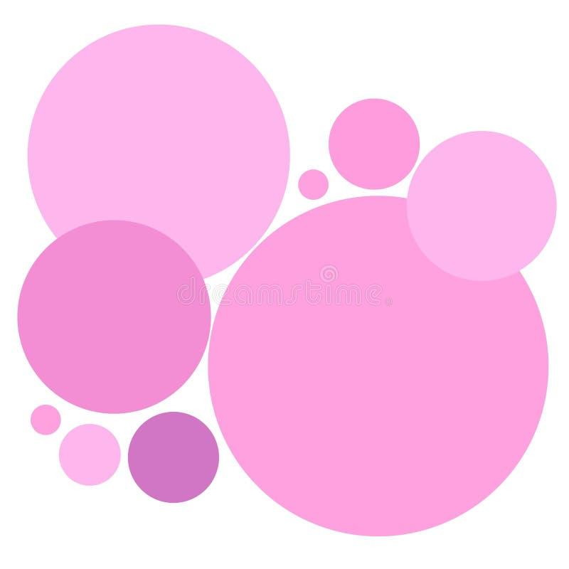 Modelo rosado simple de los círculos ilustración del vector