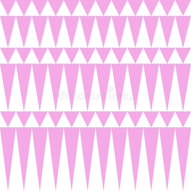 Modelo rosado suave ligero del triángulo ilustración del vector