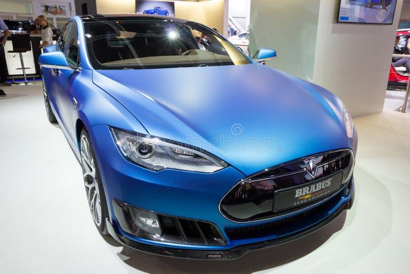 Modelo S de Brabus Tesla imagen de archivo libre de regalías