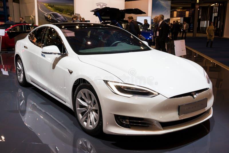 Modelo S Electric Car de Tesla fotos de archivo libres de regalías