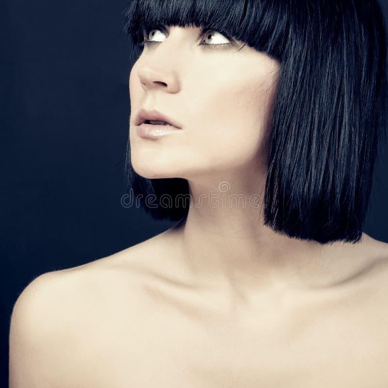 Modelo sensual da mulher fotografia de stock