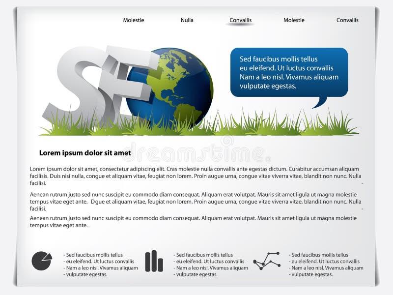 Modelo SEO del Web site stock de ilustración