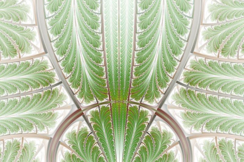 Modelo simétrico multicolor del fractal como ornamento Arte del fractal stock de ilustración