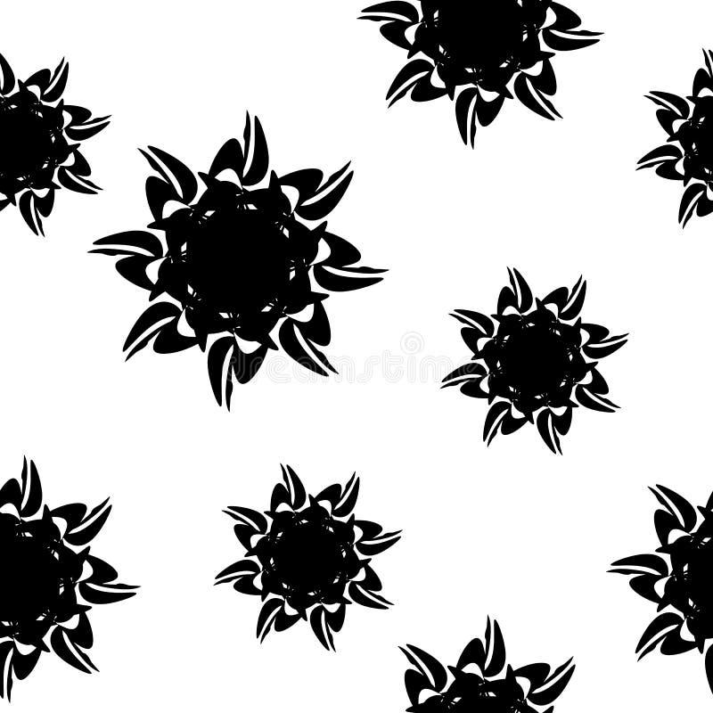 Modelo simple de la mandala en negro ilustración del vector