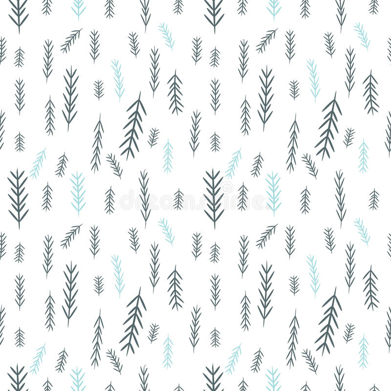 Modelo simple inconsútil de los gráficos de vector Fondo de la Navidad de la teja con el pino-árbol Textura del papel de embalaje ilustración del vector