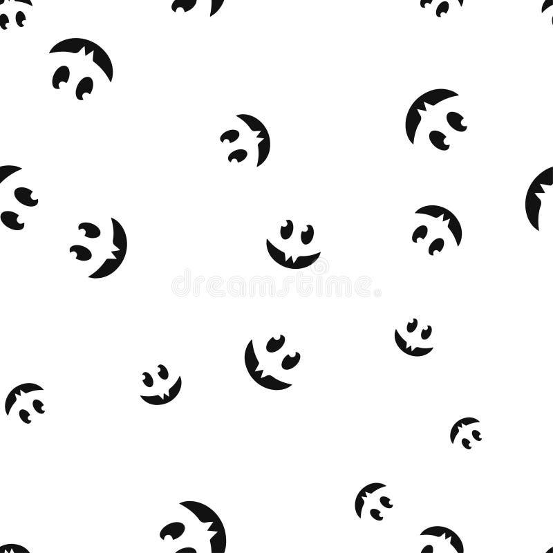Modelo sonriente de Halloween de los colmillos inconsútil ilustración del vector