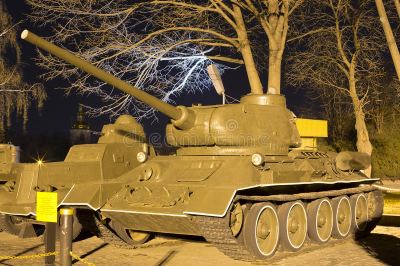 Modelo soviético 1944 do carro de combate médio T-34-85 fotografia de stock royalty free