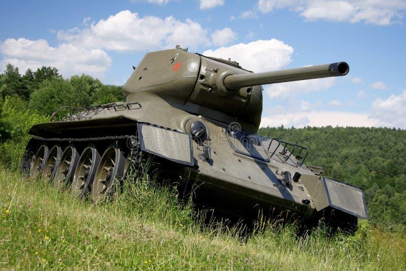 Modelo soviético t34 del tanque. Segunda Guerra Mundial. imagen de archivo