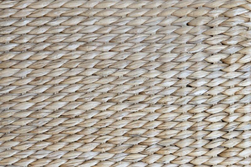 Modelo tejido a mano del fondo de la cesta foto de archivo