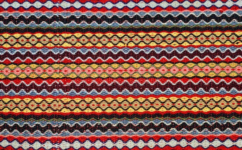 Modelo tejido mano del kilim fotografía de archivo libre de regalías