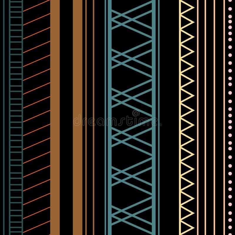 Modelo ?tnico decorativo del vector incons?til con los ornamentos geom?tricos Fondo para imprimir en el papel, papel pintado, cub libre illustration