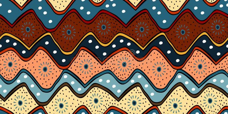 Modelo tradicional con indonesio moderno del batik exhausto étnico de la mano, coreano, japoneses, ejemplo del vector del estilo  ilustración del vector