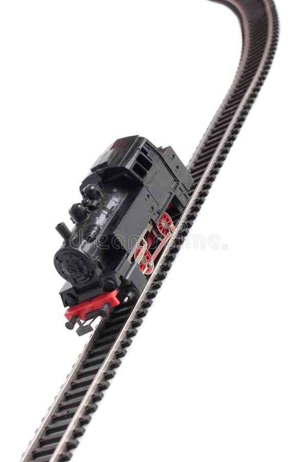 Modelo tres del tren del vapor foto de archivo libre de regalías
