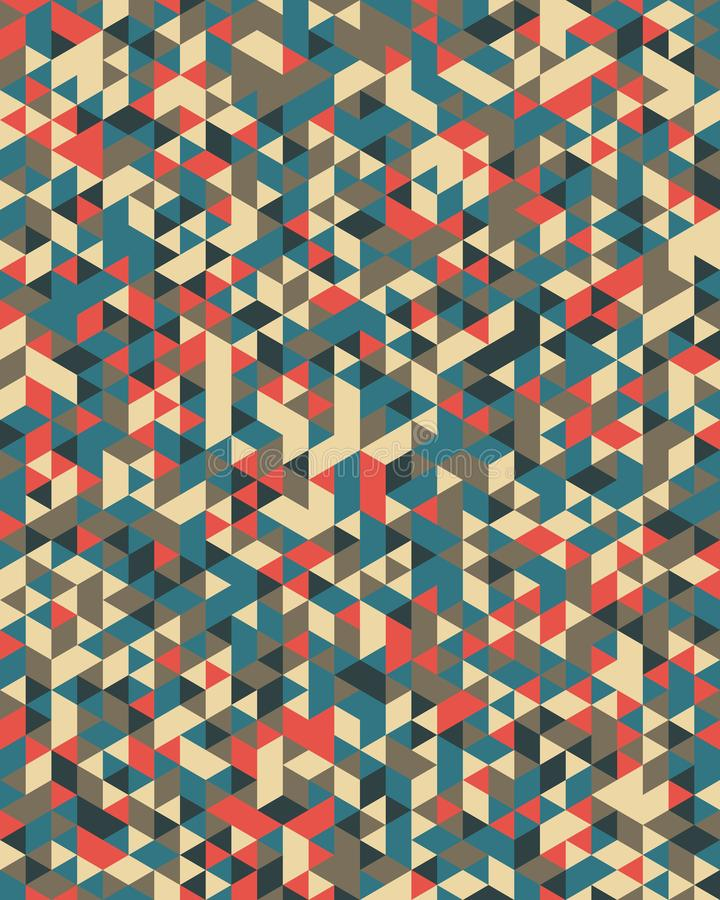 Modelo triangular inconsútil ilustración del vector