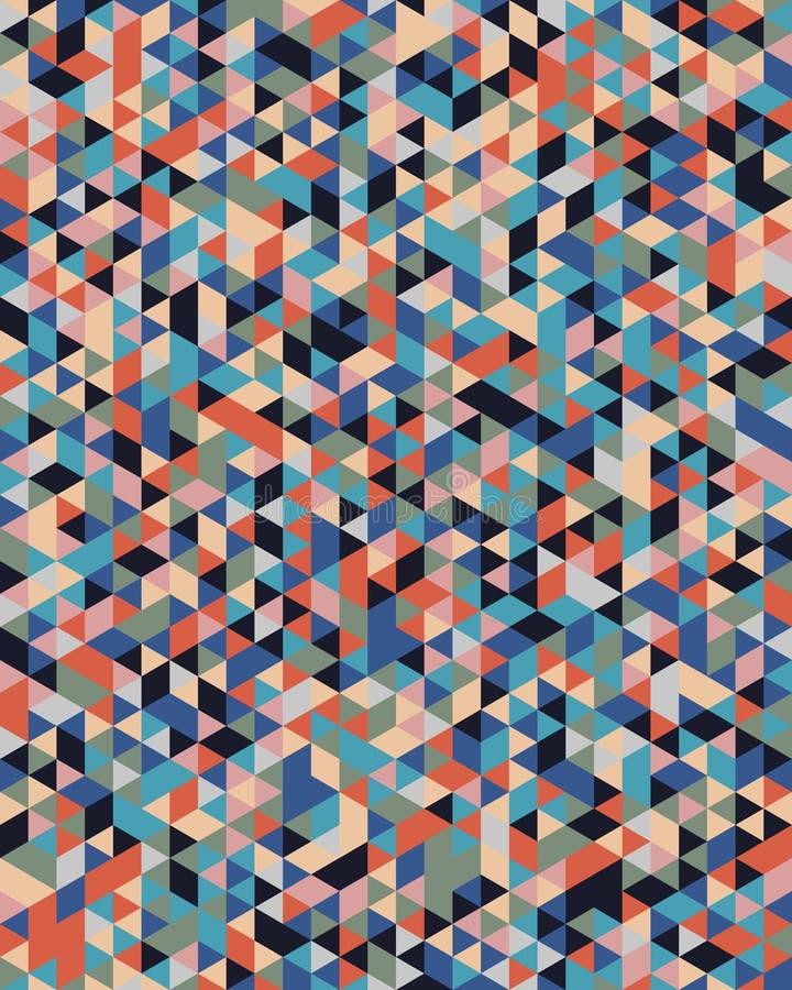 Modelo triangular inconsútil stock de ilustración