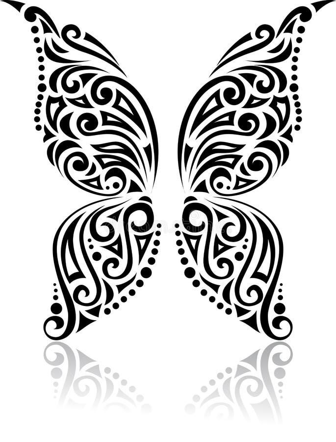 Modelo tribal de la mariposa libre illustration