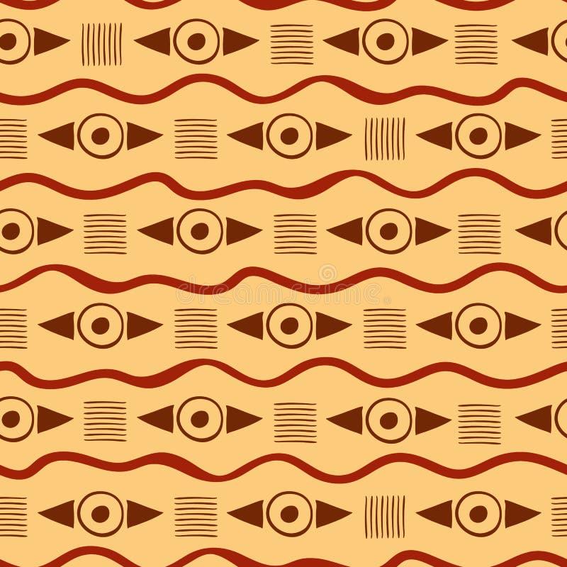 Modelo tribal geométrico vibrante ilustración del vector
