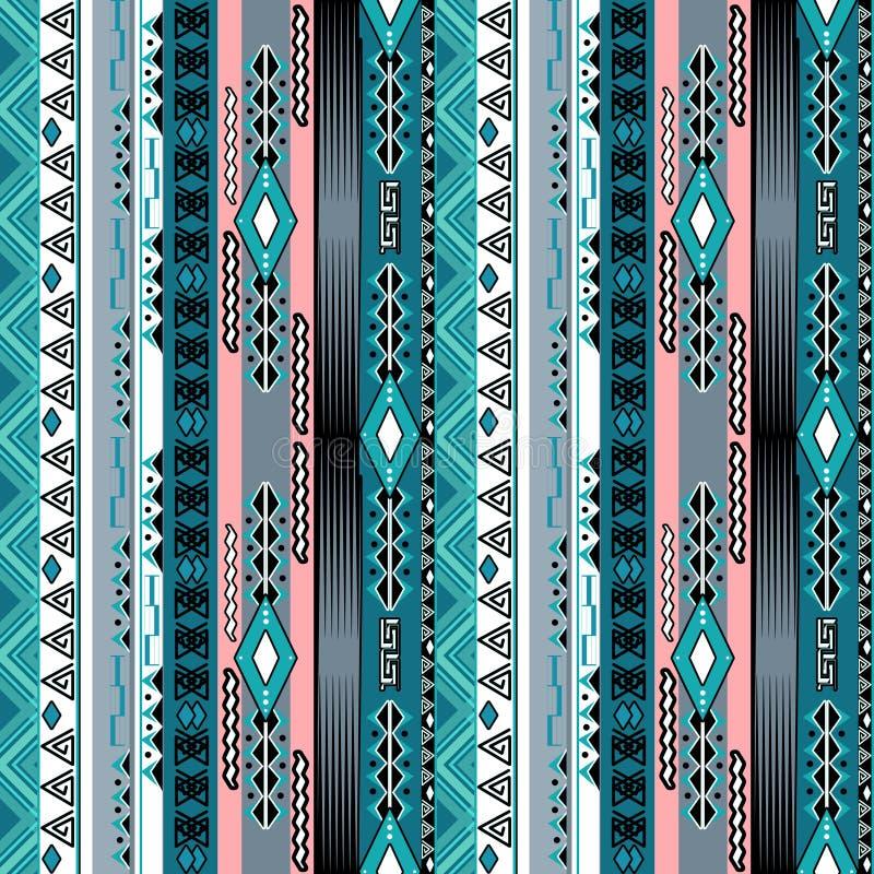 Modelo tribal inconsútil del extracto africano del ethno con f decorativa stock de ilustración