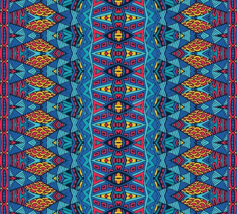 Modelo tribal inconsútil rayado geométrico étnico ilustración del vector
