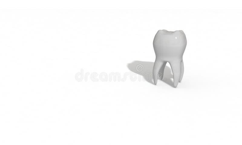 Modelo tridimensional do dente feito para a saúde ilustração do vetor