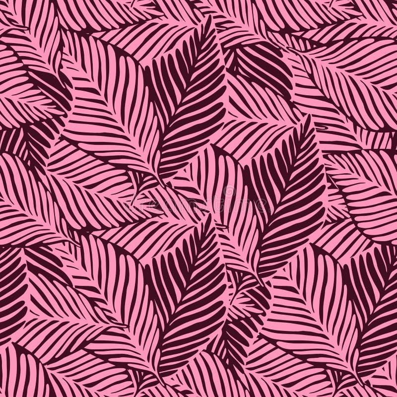 Modelo tropical abstracto, fondo floral incons?til de las hojas de palma libre illustration