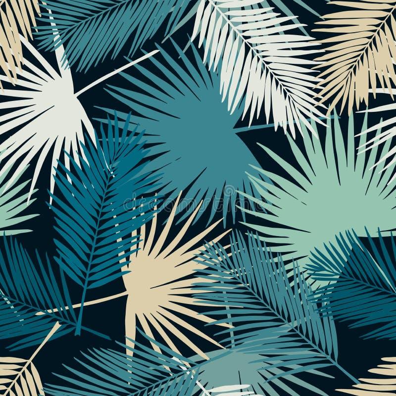 Modelo tropical inconsútil de las hojas de palma stock de ilustración