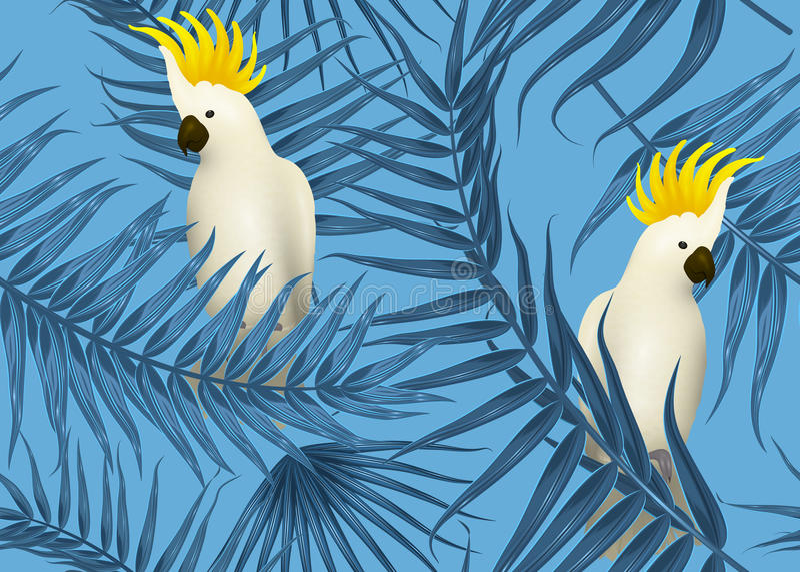 Modelo tropical inconsútil, fondo exótico con las ramas de palmera, hojas, hoja, hojas de palma Textura sin fin libre illustration