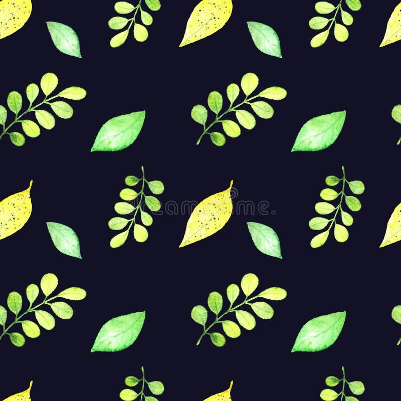 Modelo tropical inconsútil, hojas del frash libre illustration